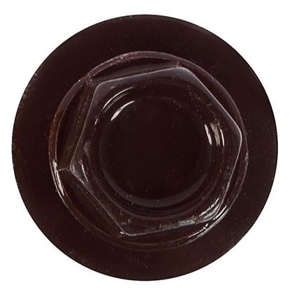 Саморезы кровельные с буром 4.8х50 мм цвет темно-коричневый