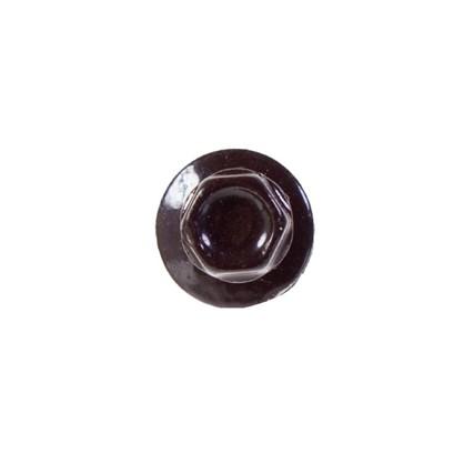 Саморезы кровельные с буром 4.8х70 мм цвет темно-коричневый на вес