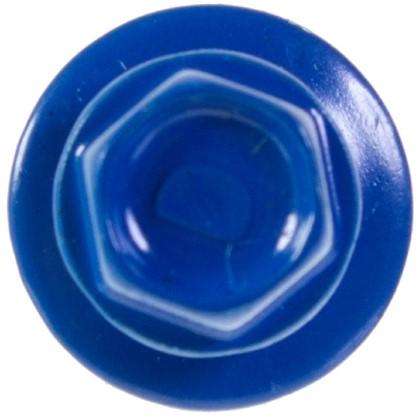 Саморезы кровельные с буром 5.5х19 мм цвет синий на вес