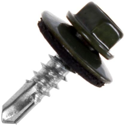 Саморезы кровельные Standers 5.5х19 мм цвет темно-зеленый 200 шт.