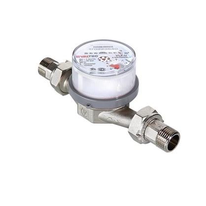 Счётчик для воды универсальный квартирный Valtec 1/2 дюйма 110 мм