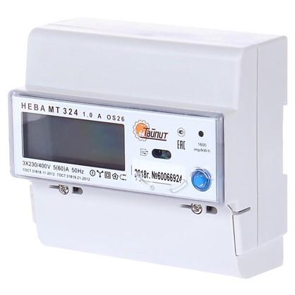 Счётчик электроэнергии Нева МТ 324 AOS26 5(60)А трёхфазный