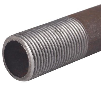 Сгон удлин.стальной черный 1 дюйм 200мм