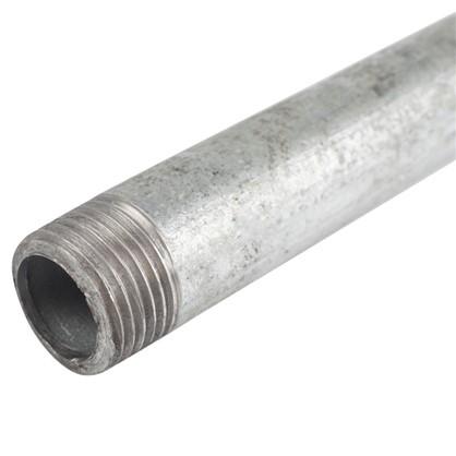 Сгон удлиненный d 15 мм L 0.5 м оцинкованный сталь