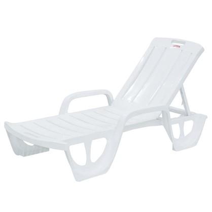 Купить Шезлонг-лежак белый пляжный Флорида дешевле