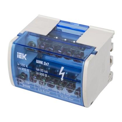 Шина нулевая на IEK Din-рейку в корпусе 2х7 групп