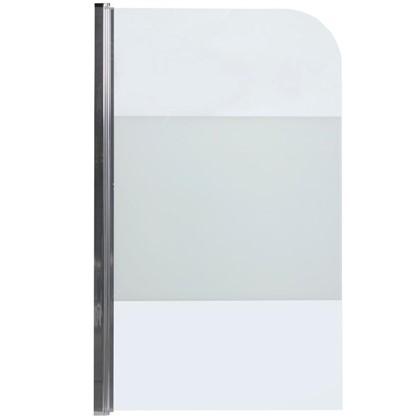 Ширма на ванну Quad 140x85 см цвет серебристый