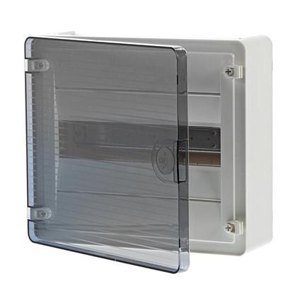 Щит пластиковый на стену Hager Golf на 12 модулей с прозрачной дверью