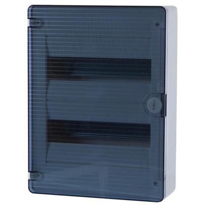 Щит пластиковый на стену Hager Golf на 24 модуля с прозрачной дверью