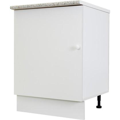 Шкаф напольный Бьянка Сп с фасадом 85х60 см ЛДСП цвет белый