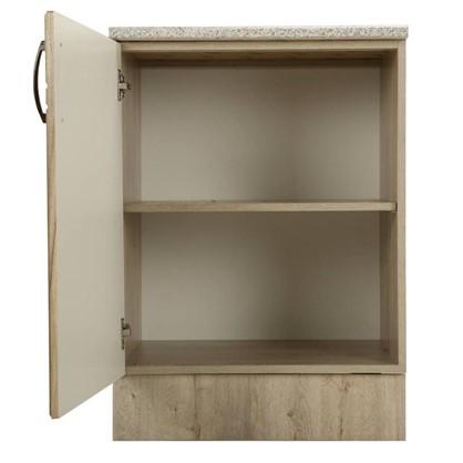 Шкаф напольный Камила 80-85х60 см МДФ цвет светлый каштан