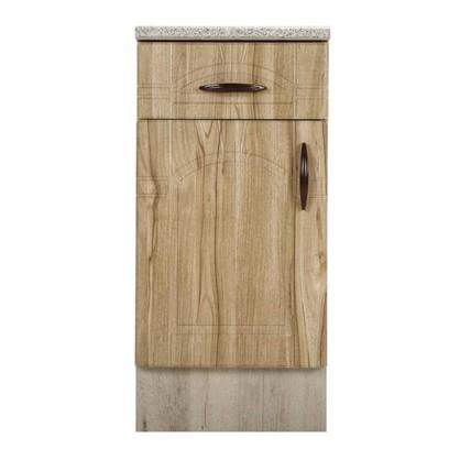 Шкаф напольный Камила с фасадом и одним ящиком 80-85х40 см МДФ цвет светлый каштан