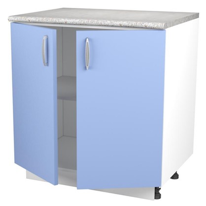 Шкаф напольный Лагуна Д 86х80 см цвет голубой