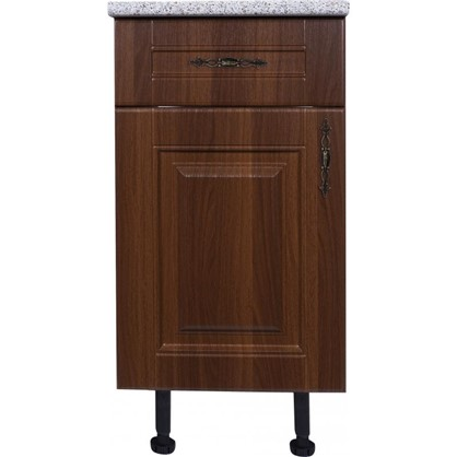 Шкаф напольный Орех Р с фасадом и одним ящиком 85х40 см МДФ цвет орех
