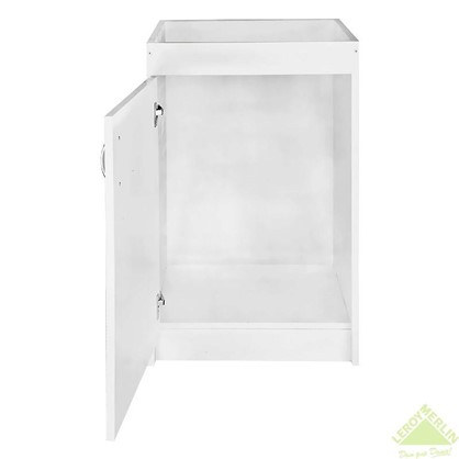 Шкаф напольный под мойку 82х50 см с фасадом ЛДСП цвет белый