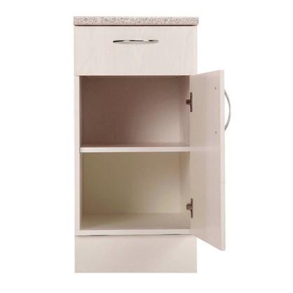 Шкаф напольный Рондо с фасадом и одним ящиком 80-85х40 см МДФ цвет белый