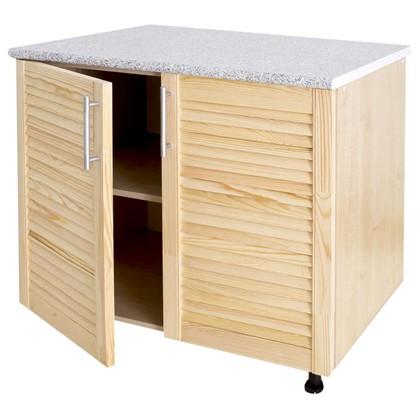 Купить Шкаф напольный Сосна жалюзи Мо с фасадом 85х80 см хвоя/ЛДСП цвет cосна дешевле