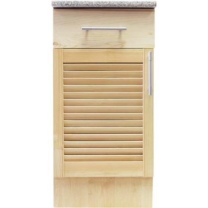 Купить Шкаф напольный Сосна жалюзи Мо с фасадом и одним ящиком 85х40 см хвоя/ЛДСП цвет cосна дешевле