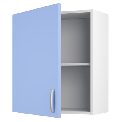 Шкаф навесной Лагуна Д 67.6х60 см цвет голубой