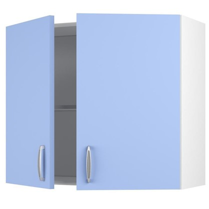 Купить Шкаф навесной Лагуна Д 67.6х80 см цвет голубой дешевле