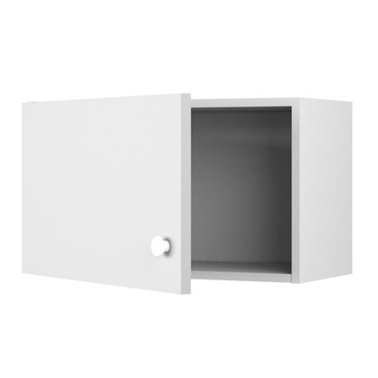 Купить Шкаф навесной над вытяжкой Бьянка Д с фасадом 34.7х60 см цвет белый дешевле