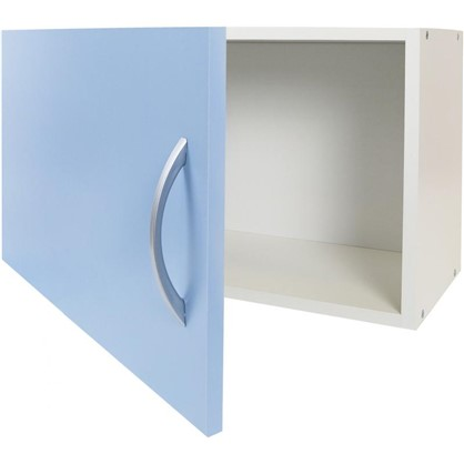 Шкаф навесной над вытяжкой Лагуна Д 34.7х60 см цвет голубой