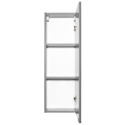 Шкаф для ванной подвесной Авангард 30x90 см цвет серый