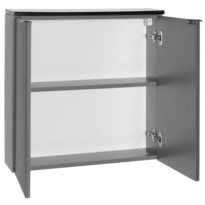 Купить Шкаф для ванной подвесной Авангард 60x90 см цвет серый дешевле