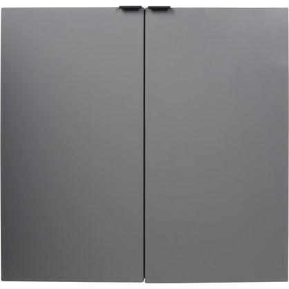 Шкаф для ванной подвесной Авангард нижний 60 см цвет серый