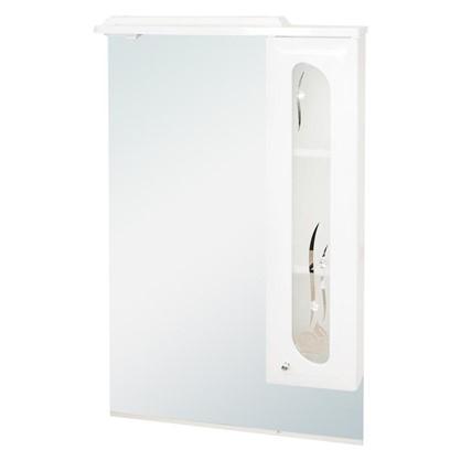 Зеркальный шкаф Астра Витраж 63 см цвет белый