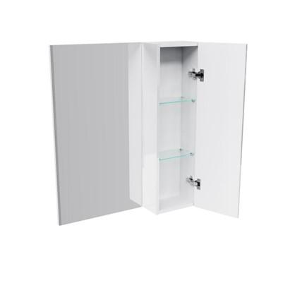 Зеркальный шкаф Бостон 70 см белый