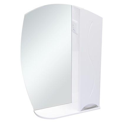 Зеркальный шкаф Глория 75 см цвет белый