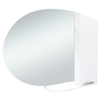 Зеркальный шкаф Глория 90 см цвет белый