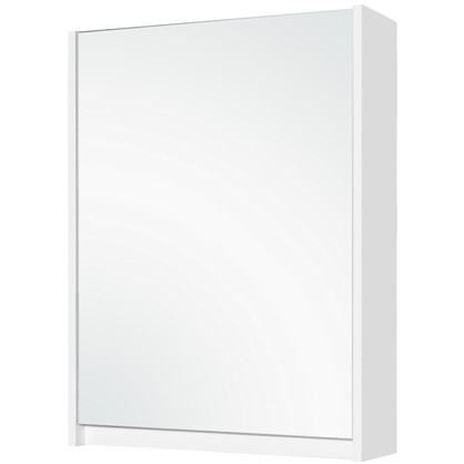 Зеркальный шкаф Квадро 60 см цвет белый