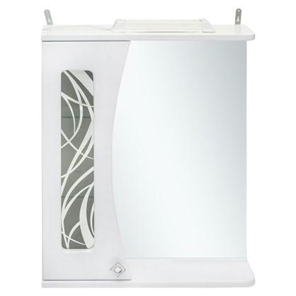 Зеркальный шкаф Мальта 55 см цвет белый