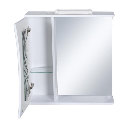 Купить Зеркальный шкаф Мальта 65 см цвет белый дешевле