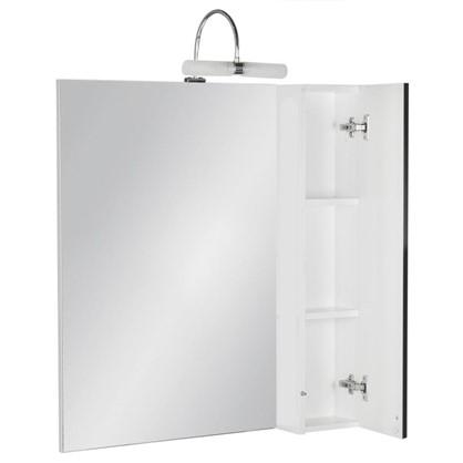 Купить Зеркальный шкаф Мерлин 60 см цвет чёрный дешевле