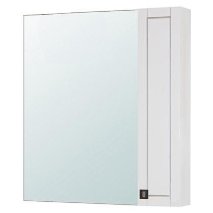 Зеркальный шкаф Мерлин 80 см цвет белый