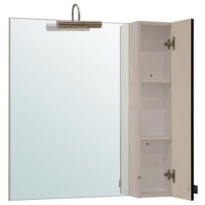 Зеркальный шкаф Мерлин 80 см цвет чёрный