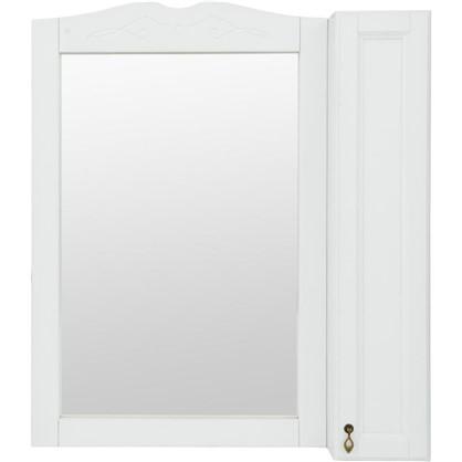 Купить Зеркальный шкаф O-mebel Retro 85 см массив бука цвет белый дешевле