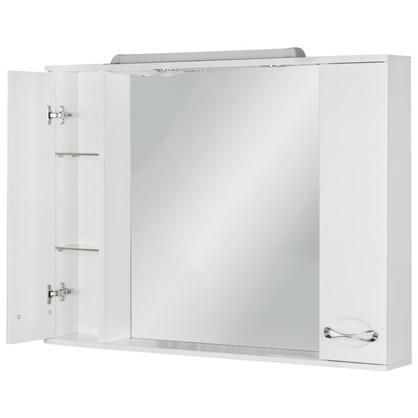 Купить Зеркальный шкаф Палермо 105 см цвет белый дешевле