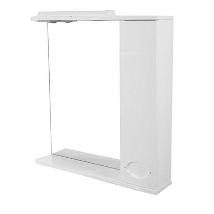 Купить Зеркальный шкаф Палермо 75 см цвет белый дешевле