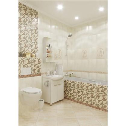 Купить Зеркальный шкаф Паола 50 см цвет белый дешевле