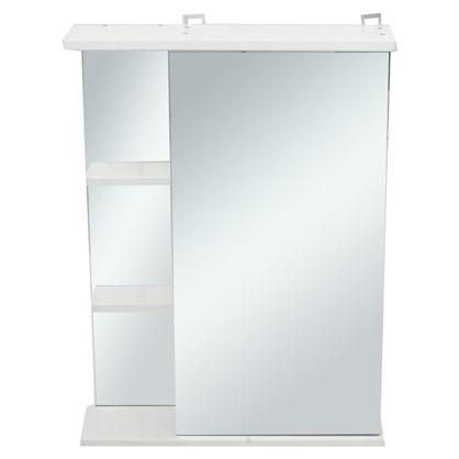 Зеркальный шкаф правый Венеция 55 см цвет белый
