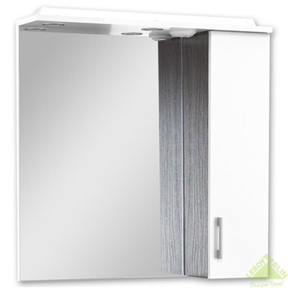 Зеркальный шкаф Равенна 75 см ЛДСП/МДФ цвет белый/венге