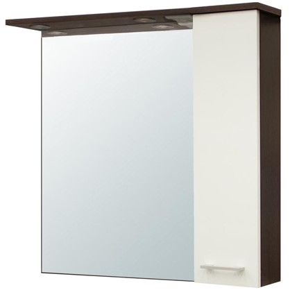 Зеркальный шкаф Равенна 80 см цвет венге