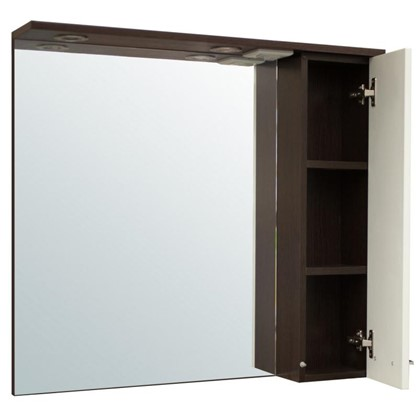 Купить Зеркальный шкаф Равенна 80 см цвет венге дешевле