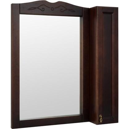 Зеркальный шкаф Retro 85 см цвет орех