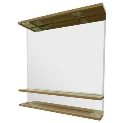 Зеркальный шкаф Румба 82 см цвет светлое дерево