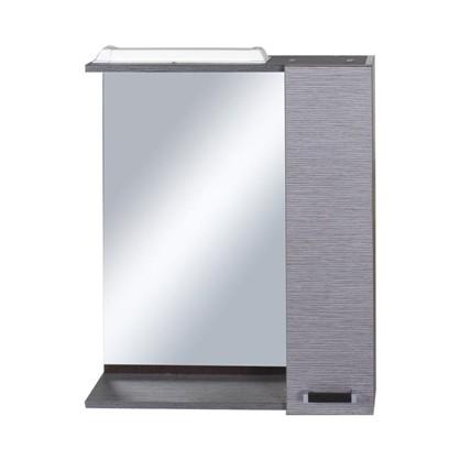 Зеркальный шкаф Торонто 60 см цвет серый